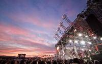 A beautiful shot of Coachella where the audio and visual combine for an amazing experience.