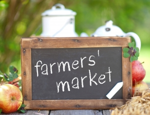 Small farms supply farmers' markets with fresh, local produce.