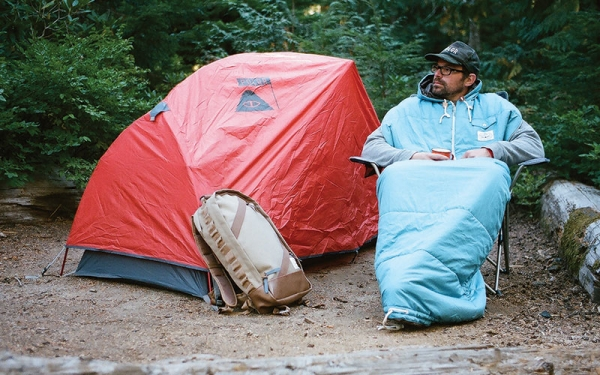 This unique sleeping bag design means you never have to get out of bed while camping.